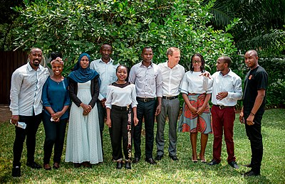 Some Tanzanian Wikimedians group photo (Briefing Wiki Loves Women Project to Swedish Ambassador in Tanzania)