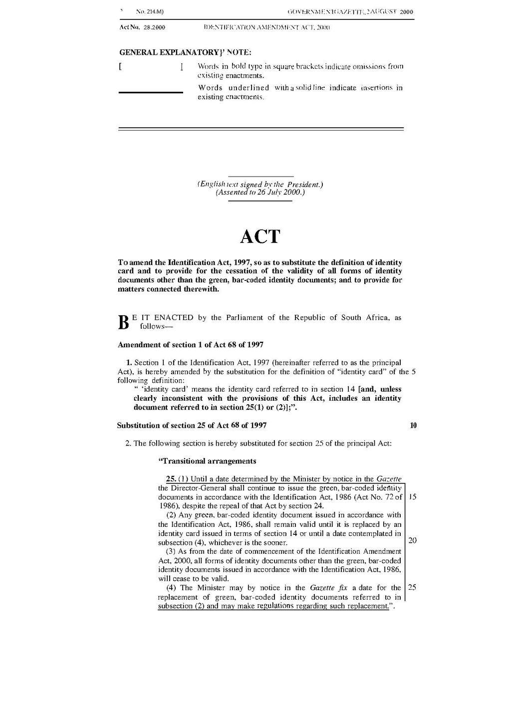 page:identification amendment act 2000.pdf/2 - wikisource, the free
