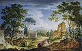 Idyllic Roman Landscape by Adolf Friedrich Harper 1790.jpg