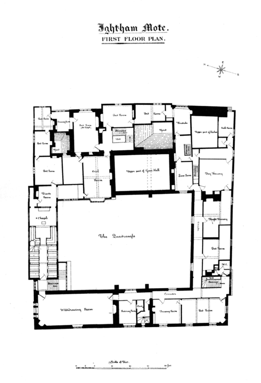 File:Ightham Mote   First Floor Plan.png