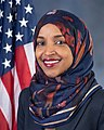 Ilhan Omar, official portrait, 116th Congress (cropped 2).jpg