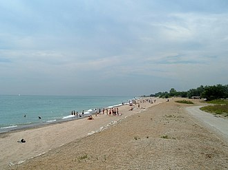 Illinois Beach State Park - Main beach in the Southern Unit of Illinois Beach State Park