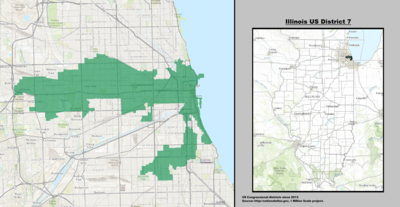 Illinois's 7th congressional district - since January 3, 2013.