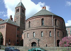 Immanuel Church, Copenhagen - The semi-circular choir seen from the east