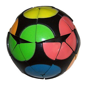 Impossiball - The Impossiball partway through a turn, showing how the pieces lift up.