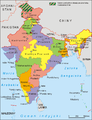 India administrative map 1960 PL.png