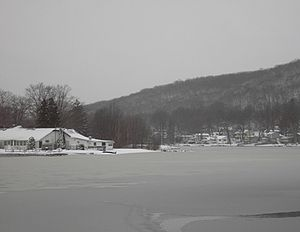 Indian Lake (New Jersey) - Indian Lake Clubhouse in Winter 2006