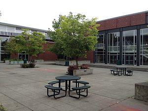Redmond High School (Washington) - Central Courtyard in 2014