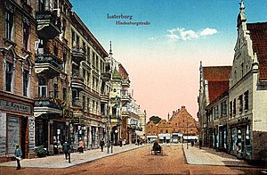 Chernyakhovsk - Postcard view of Hindenburgstraße in Insterburg, ca. 1890
