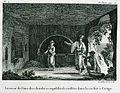 Interieur de l'une des chambres sepulchrales taillées dans le rocher à Cerigo - Castellan Antoine-laurent - 1808.jpg