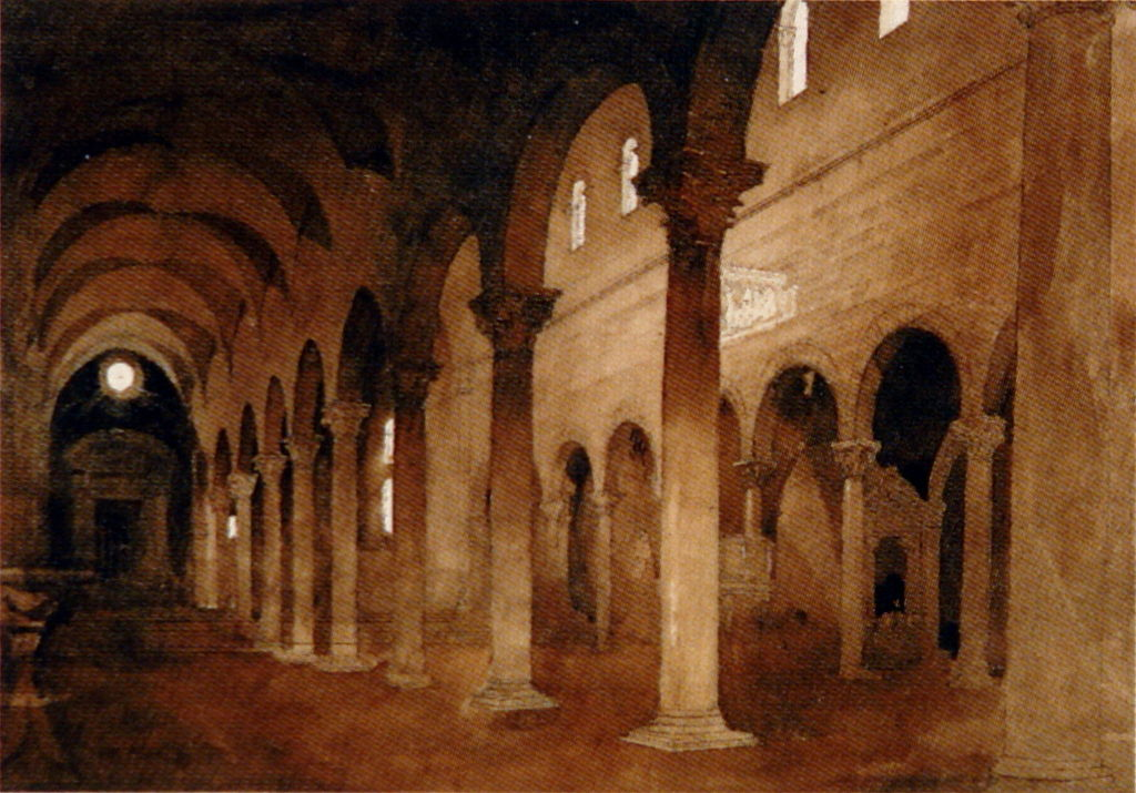 Interior of San Frediano Lucca Ruskin