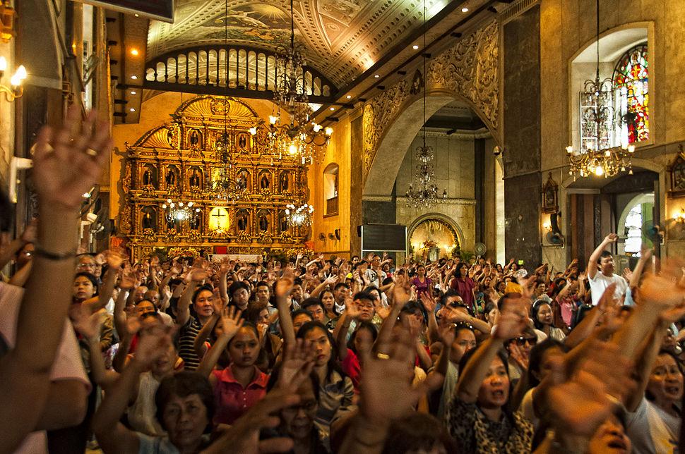 Interior of the Basilica del Santo Niño