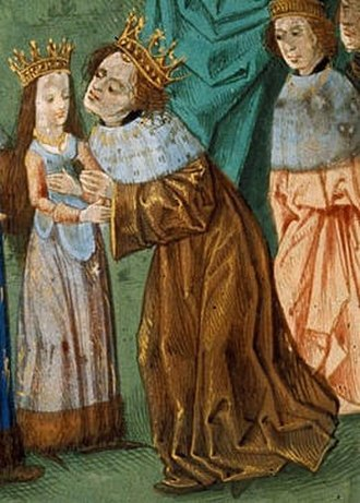 Isabella of Valois - Richard and Isabella on their wedding day