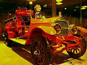 Israel Fire and Rescue Services - Vintage fire engine from 1917 at the Eretz Israel Museum, Tel Aviv