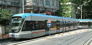 Trams in Istanbul - Modern tram in Istanbul