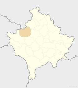Location of the municipality of Istok within Kosovo