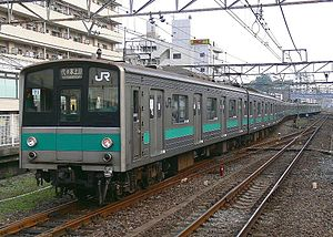 207 series (JR East) - The 207 series set at Matsudo Station, May 2006