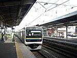 JRE 209 at Yachimata Station.jpg