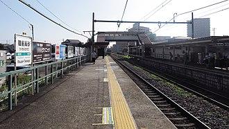 Rikuzen-Takasago Station - Image: JR East Senseki line Rikuzen takasago station platform 20140813 074456