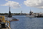 JS Takashio (SS-597) pulls into the submarine piers at Joint Base Pearl Harbor-Hickam for a port visit, -Oct. 2012 (DB801-023).jpg