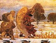 Jacek Malczewski - lewa część tryptyku Za aniołem