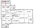 Jackson County Wisconsin Town Map-Garfield.png