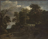 Jacob van Ruisdael - Landscape of a Forest with a Wooden Bridge.jpg