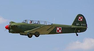 Yakovlev Yak-18 - A Polish Yakovlev Yak-18 in flight