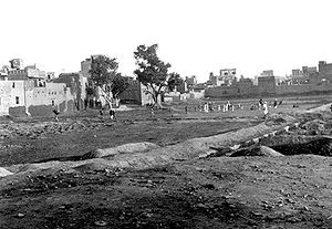 Amritsar - The Jallianwalla Bagh in 1919, months after the massacre