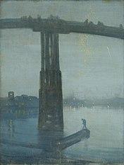 Nocturne en bleu et or - le Vieux Pont de Battersea