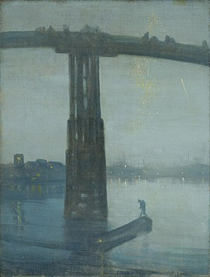 Realism (art movement) - James Abbot McNeill Whistler, Nocturne: Blue and Gold – Old Battersea Bridge (1872), Tate Britain, London, England