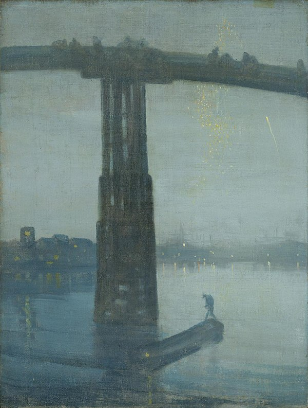 James Abbott McNeill Whistler, Nocturne: Blue and Gold - Old Battersea Bridge (1872), Tate Britain, London, England James Abbot McNeill Whistler 006.jpg