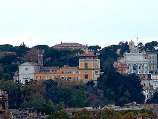 Janiculum hill in western Rome
