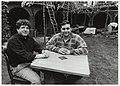 Jansstraat 72. De eigenaren van restaurant Il Giardino Donato (links) en Mario Ditano. NL-HlmNHA 54037336.JPG