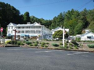 Dillsboro, North Carolina - The Jarrett House, the historic railroad hotel on Haywood Road in downtown Dillsboro. It has stood on the same location since 1884.