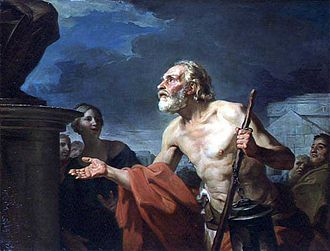 Jean-Bernard Restout - Jean-Bernard Restout, Diogenes Asking for Alms, 1767. Musee des Augustins, Toulouse, France