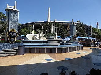 Tomorrowland Terrace - Tomorrowland Terrace dressed for Jedi Training: Trials of the Temple.
