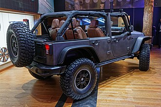 Jeep Wrangler (JK) - The Wrangler Unlimited is the only American four-door convertible in production