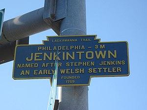 Jenkintown, Pennsylvania - Image: Jenkintown, PA Keystone Marker