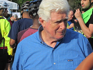 Jim Moran - Jim Moran attending the Rosslyn pit stop at Bike-to-Work Day DC 2012