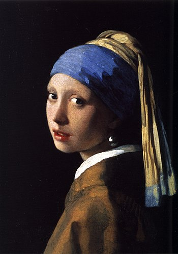 Vermeer's original painting, Girl with a Pearl...