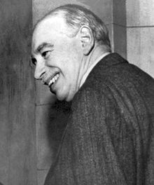 black-and-white photo of John Maynard Keynes