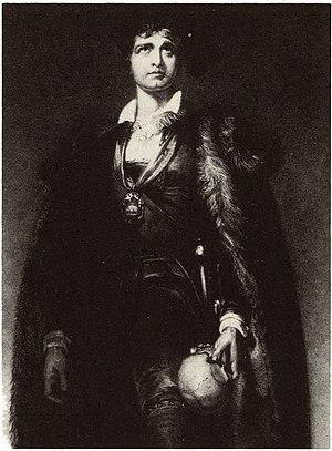John Philip Kemble - John Philip Kemble as Hamlet, from an engraving of a painting by Sir Thomas Lawrence (1802)