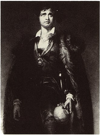 John Philip Kemble - John Philip Kemble as Hamlet, from an engraving of a painting by Sir Thomas Lawrence (1802)