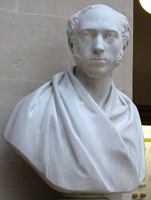 John Phillips (geologist) - Bust of John Phillips in the Oxford University Museum