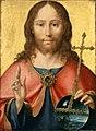 Joos van Cleve, c.1516-18, Le Christ en Salvator Mundi, 54 x 40 cm, Louvre.jpg