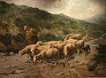 Jourdan Berger et son troupeau sous l'orage.jpg