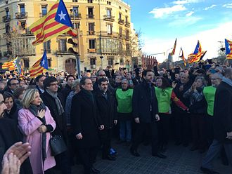 Carles Puigdemont - Protest against the trial of Artur Mas, Joana Ortega and Irene Rigau on 6 February 2017