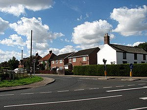 Hevingham - Image: Junction of Cromer Road (A140) with The Street geograph.org.uk 556345