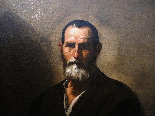 Jusepe de ribera, il filosofo crates, 1636, 02